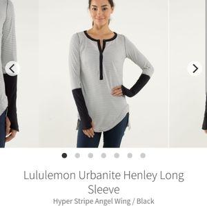 Lululemon Urbanite Henley Long Sleeve